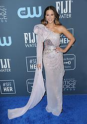 Kate Beckinsale at the 25th Annual Critics' Choice Awards held at the Barker Hangar in Santa Monica, USA on January 12, 2020.