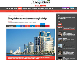 Khaleej Times; Skyline view of SHarjah  in UAE