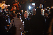 Mayor Bloomberg at The Macy's Balloon Inflation session held at West 79th and Central Park West on November 26, 2008 in New York City..A tradition since 1927, the giant character balloons are slowly blown up and brought to life in the streets around the American Museum of Natural History. The enormous balloons take up two full city blocks. Nets and sandbags are used to keep the balloons from escaping during the night.