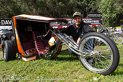 Invited New Mexican BF11 builder JP Rodman with his Volkswagon trike at the Born-Free Vintage Motorcycle show at Oak Canyon Ranch, Silverado, CA, USA. Sunday, June 23, 2019. Photography ©2019 Michael Lichter.