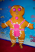 Gingerbread man,at the CBeebies Christmas Show Hansel and Gretel, Cineworld Leicester Square, London. 24.11.19