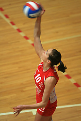 Vesna Vardic of Nova KBM at 1st match of finals of 1st DOL women volleyball league between OK Hit Nova Gorica and OK Nova KBM Branik, Maribor played in OS Milojke Strukelj, on April 8, 2009, in Nova Gorica, Slovenia. Nova KBM Branik won 3:1. (Photo by Vid Ponikvar / Sportida)