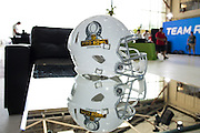 January 27 2016: Pro Bowl helmet on display during the Pro Bowl Draft at Wheeler Army Base on Oahu, HI. (Photo by Aric Becker/Icon Sportswire)