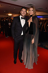 Arizona Muse and Boniface Verney-Carron at the Chain of Hope Gala Ball held at the Grosvenor House Hotel, Park Lane, London England. 17 November 2017.<br /> Photo by Dominic O'Neill/SilverHub 0203 174 1069 sales@silverhubmedia.com