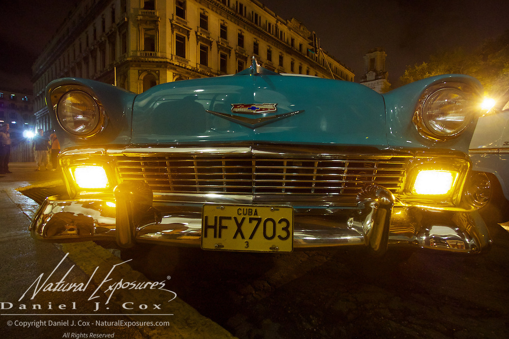 Vintage Bel Air Chevy on the streets of Havana, Cuba.