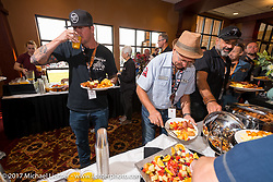 Kiwi Mike Tomas at the Sturgis Motorcycle Hall of Fame 2017 Induction Breakfast during the annual Sturgis Black Hills Motorcycle Rally. Deadwood, SD. USA.  August 9, 2017.  Photography ©2017 Michael Lichter.
