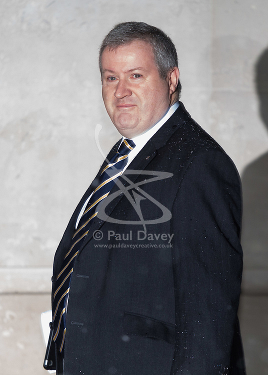 London, December 10 2017. The SNP's Ian Blackford arrives at the BBC's Broadcasting House in London to appear on the Andrew Marr Show. © Paul Davey