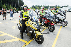 Motorbikes during 5th Time Trial Stage of 25th Tour de Slovenie 2018 cycling race between Trebnje and Novo mesto (25,5 km), on June 17, 2018 in  Slovenia. Photo by Vid Ponikvar / Sportida