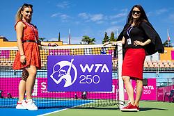PORTOROZ, SLOVENIA - SEPTEMBER 18: Alja Uranjek and Anja Vreg during the Semifinals of WTA 250 Zavarovalnica Sava Portoroz at SRC Marina, on September 18, 2021 in Portoroz / Portorose, Slovenia. Photo by Matic Klansek Velej / Sportida