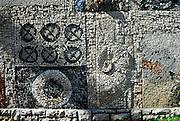 Detail of monument, Vela Luka, island of Korcula, Croatia