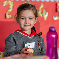 Siún Judge at her First day at Ennis National School