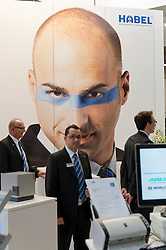 Habel software stall at CeBIT 2011 digital and electronics trade fair in Hannover March 2011 Germany