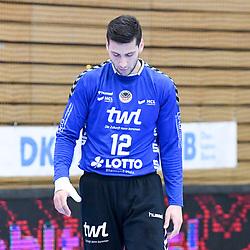 Ludwigshafens Martin Tomovski (Nr.12)  beim Spiel in der Handball Bundesliga, Die Eulen Ludwigshafen - Bergischer HC.<br /> <br /> Foto © PIX-Sportfotos *** Foto ist honorarpflichtig! *** Auf Anfrage in hoeherer Qualitaet/Aufloesung. Belegexemplar erbeten. Veroeffentlichung ausschliesslich fuer journalistisch-publizistische Zwecke. For editorial use only.