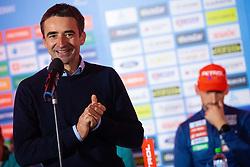 Franci Petek during press conference of Slovenian Nordic Ski Cross country team before new season 2019/20, on Novamber 12, 2019, in Petrol, Ljubljana, Slovenia. Photo Grega Valancic / Sportida