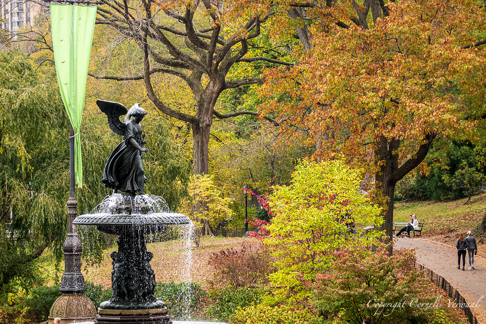 Autumn colors at Bethesda Fountain in Central Park