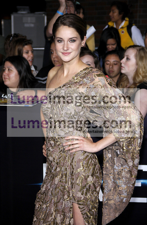 """Shailene Woodley at the Los Angeles premiere of """"Divergent"""" held at the Regency Bruin Theatre in Westwood, USA on March 18, 2014."""