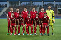 Serbia Team group shot. Top Row (left to right) Nemanja Maksimovic, Nemanja Antonov, Milos Veljkovic, Vukasin Jovanovic, Aleksandar Filipovic and Filip Manojlovic. Bottom row (left to right)  Mijat Gacinovic, Sasa Lukic, Andrija Zivkovic, Nemanja Radonjic and Uros Djurdjevic