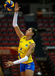 10-10-2018 JPN: World Championship Volleyball Women day 11, Nagoya<br /> Netherlands - Brazil 2-3 / Ana Carolina Da Silva #4 of Brazil