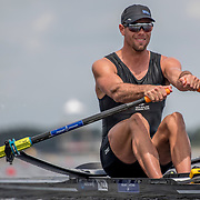 Robbie Manson New Zealand Mens Single Scull<br /> <br /> Qualifcation heats at the World Championships, Sarasota, Florida, USA Sunday 24 September 2017. Copyright photo © Steve McArthur / Rowing NZ
