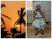 Old Ningo sunset and a lady from Nkawkaw. On project with Raleigh International in Ghana
