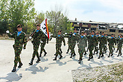 Portuguese troops serving under NATO mission in Kosovo held a welcome ceremony on Saturday, Sept 26, 2009 - to transfer the authority from the First Battalion of Infantry - Brigade Battalion intervention to First Mechanized Infantry-Mechanized Brigade. German lieutenant Marcu Bentler led the ceremony. (Photo/ Vudi Xhymshiti)