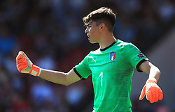 Italy U17 goalkeeper Alessandro Russo during the UEFA European U17 Championship, Group A match at Banks's Stadium, Walsall. PRESS ASSOCIATION Photo. Picture date: Monday May 7, 2018. See PA story SOCCER England U17. Photo credit should read: Mike Egerton/PA Wire. RESTRICTIONS: Editorial use only. No commercial use.