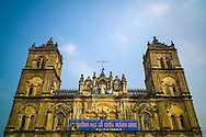 Facade of Bui Chu Church, one of the oldest churches in Vietnam (built in 1885) <br /> Xuan Ngoc Commune, Xuan Truong District<br /> , Nam Dinh Province, Vietnam, Southeast Asia
