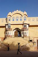 Inde, Rajasthan, Jaipur la ville rose, le palais des vents (Hawa Mahal). // India, rajasthan, Jaipur the Pink City, the Wind Palace (Hawa Mahal).