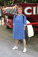 Janet Ellis, Giffords Circus Press Night - Celebrity Arrivals, Chiswick House & Gardens, London, UK, 28 June 2018, Photo by Richard Goldschmidt