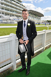 JIMMY ANDERSON - the record breaking England cricketer at the Investec Derby 2015 at Epsom Racecourse, Epsom, Surrey on 6th June 2015.