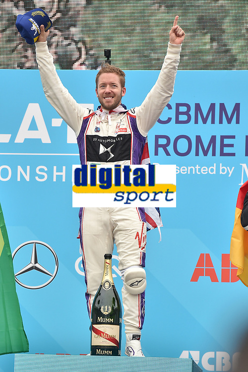 Sam Bird Virgin win Formula E prix Roma 2018<br /> Roma 14- 04-2018 Eur<br /> Roma E  Prix 2018 / Formula E Championship<br /> Foto Antonietta Baldassarre Insidefoto