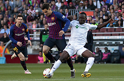 May 12, 2019 - Barcelona, Spain - Phillipe Coutinho and Foulquier during the match between FC Barcelona angd Getafe, corresponding to the round 37 of the Liga Santander, played at the Camp Nou Stadium, on 12th May 2019, in Barcelona, Spain. (Credit Image: © Joan Valls/NurPhoto via ZUMA Press)