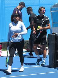 AU_1444757 - Perth, AUSTRALIA  -  Serena Williams training session at the RAC Arena in Perth, Western Australia<br /> <br /> Pictured: Serena Williams<br /> <br /> BACKGRID Australia 30 DECEMBER 2018 <br /> <br /> BYLINE MUST READ: FAMO / BACKGRID<br /> <br /> Phone: + 61 2 8719 0598<br /> Email:  photos@backgrid.com.au