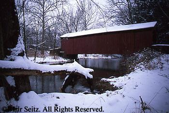 PA Landscapes, PA Historic Places, PA Covered Bridges, Waggoner Covered Bridge, Bixler's  Run, Perry Co., Pennsylvania
