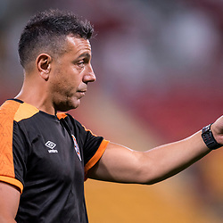 BRISBANE, AUSTRALIA - OCTOBER 13: Assistant coach Ross Aloisi gives instructions during the Round 2 Hyundai A-League match between Brisbane Roar and Adelaide United on October 13, 2017 in Brisbane, Australia. (Photo by Patrick Kearney)