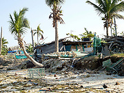 Damage caused by Typhoon Haiyan, Santa Fe, Bantayan Island, The Philippines. On November 6 2013 Typhoon Haiyan hit the Philippines and was one of the most powerful storms to ever make landfall. The storm had a devastating impact on the fishing and seaweed industry and caused extensive environmental damage which will have a long term impact on ecosystems and the communities who rely on them for food and employment. Three-quarters of the island's population of about 136,000 depend on fishing as their main source of income. Thousands lost their boats and equipment in the storm. Oxfam is working to support the immediate and long-term needs of affected communities on Bantayan Island including establishing boat repair stations in Bantayan.