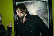 SERGIO PIZZORNO OF KASABIAN  , Ideas And Idols - private view of work by Paul Karslake.<br />Scream, 34 Bruton Street, London, W1, 6.30-8.30pm<br />21 February 2008.  *** Local Caption *** -DO NOT ARCHIVE-© Copyright Photograph by Dafydd Jones. 248 Clapham Rd. London SW9 0PZ. Tel 0207 820 0771. www.dafjones.com.