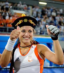 22-08-2008 HOCKEY: OLYMPISCHE SPELEN FINALE CHINA - NEDERLAND: BEIJING <br /> Nederland Olympisch kampioen - Wieke Dijkstra<br /> ©2008-FotoHoogendoorn.nl