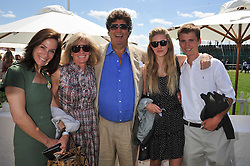 MELANIE VERE NICHOLL, MR & MRS TIM HOARE,FRANCESCA HOARE and ELIAS HOARE at the 27th annual Cartier International Polo Day featuring the 100th Coronation Cup between England and Brazil held at Guards Polo Club, Windsor Great Park, Berkshire on 24th July 2011.