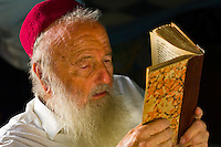 Rabbi reading Torah, El Ghriba Synagogue, Djerba Island, Tunisia