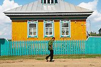 Russie, Republique de Bachkirie, village dans la Region de Oufa. // Russia, Bachkirie Republic, village around Oufa.