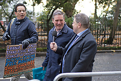 © Licensed to London News Pictures. 16/11/2019. London, UK. Shadow Secretary of State for Exiting the European Union Sir Kier Starmer arrives for a Labour NEC meeting at Savoy Place.  Photo credit: George Cracknell Wright/LNP