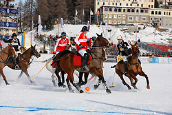 Both team strugling for the ball<br /> Match Germany - Switzerland<br /> St.Moritz Polo World Cup On Snow 2011<br /> © Dirk Caremans