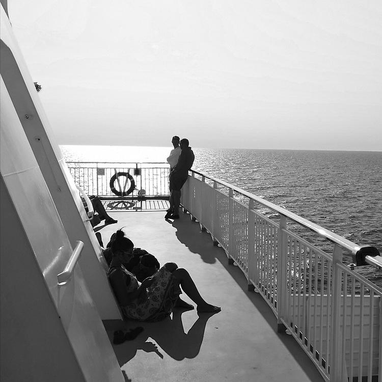 På Gotlandsfärjan.<br /> PHOTO © Bernt Lindgren
