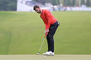 Michael Carrick putting on the 1st hole during the Celebrity Pro-Am day at Wentworth Club, Virginia Water, United Kingdom on 23 May 2018. Picture by Phil Duncan.
