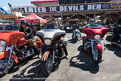 At the Iron Horse Saloon after the Harley-Davidson Angels Ride to benefit the Nature Conservancy during the annual Sturgis Black Hills Motorcycle Rally.  SD, USA.  August 12, 2016.  Photography ©2016 Michael Lichter.