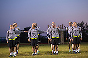Drill Sergeant candidates at the US Army Drill Instructors School Fort Jackson during early morning formation September 27, 2013 in Columbia, SC. While 14 percent of the Army is women soldiers there is a shortage of female Drill Sergeants.