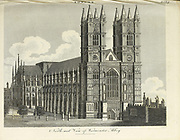 Architecture in the City of London Westminster Abbey Copperplate engraving From the Encyclopaedia Londinensis or, Universal dictionary of arts, sciences, and literature; Volume XIII;  Edited by Wilkes, John. Published in London in 1815