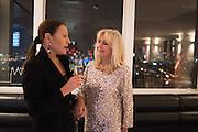 EVGENIA VAN DER GEEST; LIZ BREWER, Liz Brewer Festive Celebration hosted by Daphne Mckinley Edwards chairman of the Sean Edwards , Foundation at Altitude. Millbank Tower, London SW1. 3 DECEMBER 2016.