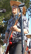 Mitzi Cowell leads her band in concert at Solar Rock in Himmel Park, Tucson, Arizona.